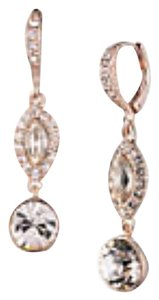 Givenchy Swarovski elements clear crystals sets in rose gold tone earring