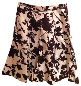 H&M Skirt Brown and white