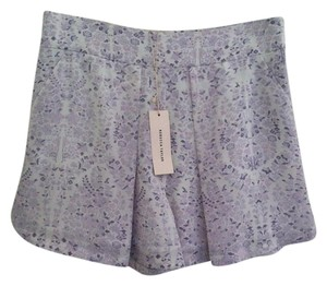Rebecca Taylor Dress Shorts Lavender White