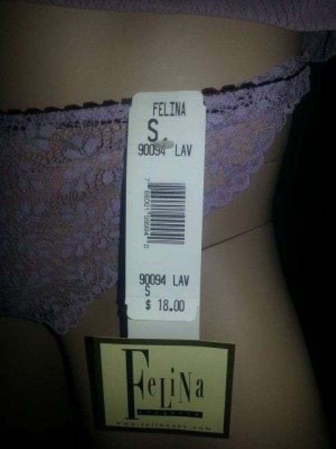 Felina 2pc. Lace Set Lingerie Intimates Underware Panties Camisole 4 Size 4 Top Lavender