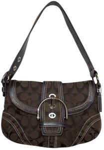 Coach Signature Monogram Leather Soho Hobo Bag