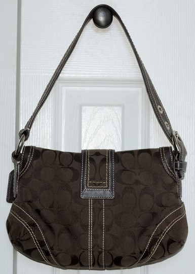 Coach Signature Monogram Leather Soho Hobo Bag Image 1