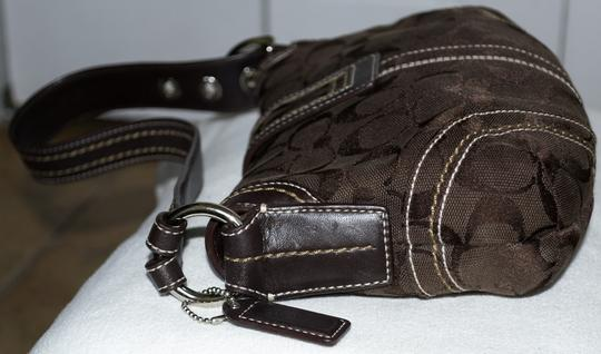 Coach Signature Monogram Leather Soho Hobo Bag Image 4
