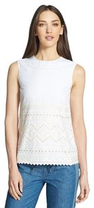 Tory Burch Size 2 White/ Seraphina Top White/ New Ivory