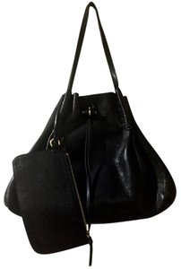 Nina Ricci Ondine Ondine Tote in Black with Navy Detail