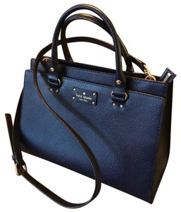 Kate Spade French Blue Leather Purse Satchel in Blue