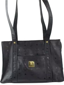 MCM Vintage Leather Tote Shoulder Bag