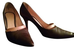 Louis Vuitton Lv Mary Janes Leather Brown Pumps