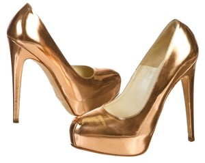Brian Atwood Bronze Pumps