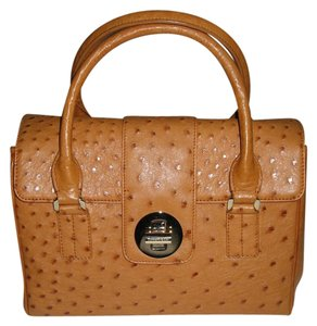 Tiffany & Co. & Co & Co Handbag Ostrich Satchel in Tan