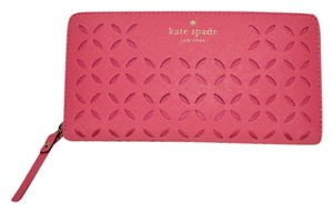 Kate Spade New KATE SPADE Neda Spice Market Leather Wallet Peony Pink