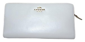 Coach New COACH Smooth Leather Long SKINNY Wallet Chalk Stunning!