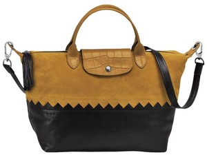 Longchamp Satchel in Curry