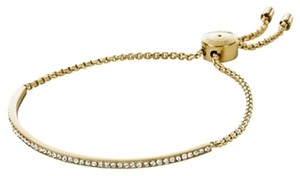 Michael Kors MICHAEL KORS Brilliance Pave Gold Tone Slider Bracelet with Pouch