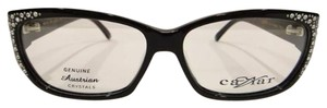 Caviar Eyewear CAVIAR 6172 EYEGLASSES SHINY BLACK (24) CRYSTAL STONES NEW