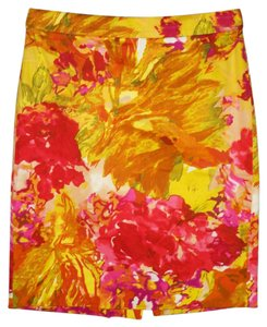 J.Crew Printed Pencil Cotton Floral Mini Skirt
