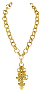 Chanel Chanel Gold CC & Cross Charm Necklace