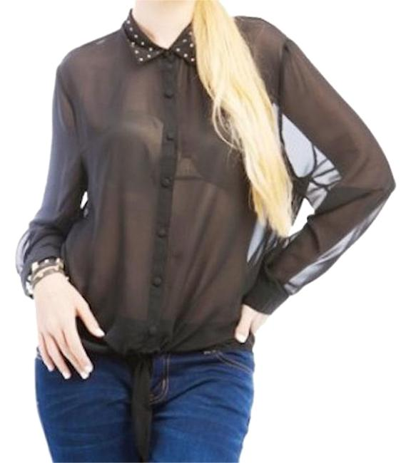 Preload https://img-static.tradesy.com/item/18912931/black-crystal-accent-semi-sheer-blouse-button-down-top-size-20-plus-1x-0-1-650-650.jpg