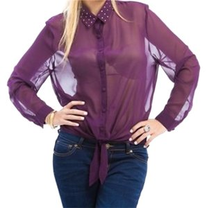 Other Button Down Shirt purple