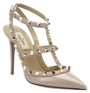 Valentino Rockstud Powder Blush Nude Pumps