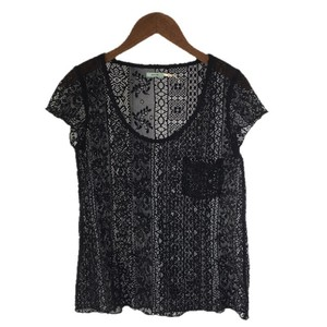 Kimchi Blue Lace Nylon Date Night Summer Top BLACK