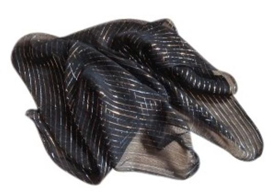 Preload https://item5.tradesy.com/images/black-w-gold-and-silver-threads-w-scarfwrap-18914-0-0.jpg?width=440&height=440