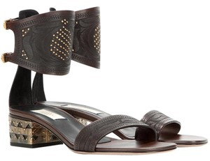 Valentino Rockstud Mini Rockstud Tribal Dark brown 39(EU) Sandals