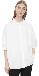 COS Cotton Machine Washable Button Down Shirt White