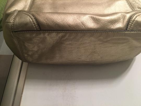 Coach Leather Tote in Gold metallic Image 5