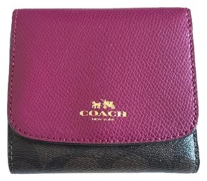 Coach NWT Coach PVC LETHER TRIFLOD WALLET F53837 + Card Holder Set