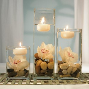 Clear Glass Vases Centerpiece