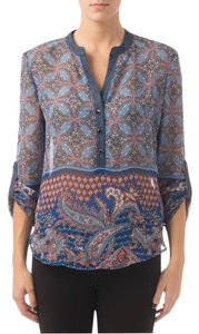 Joseph Ribkoff Top Blue/coral/denim