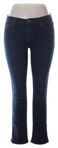 J Brand Cropped Low-rise Skinny Jeans-Dark Rinse