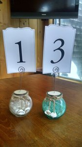 14 Seashell And Sand Table Number/photo Holders