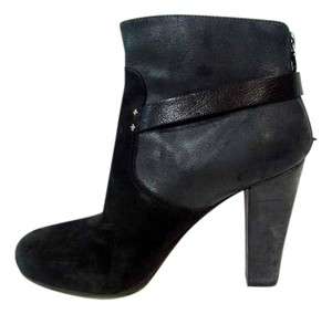 Rag & Bone Chunky Suede Leather Ankle Black Boots