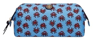 Tory Burch PRINTED NYLON LARGE MOLDED COSMETIC CASE crab print