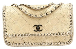 Chanel Python Quilted Chain Around Shoulder Bag