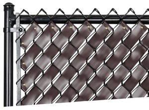 Fence Weave Chain Link Fence Weave (Chocolate Brown)