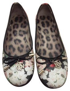 Roberto Cavalli Black red green white Flats