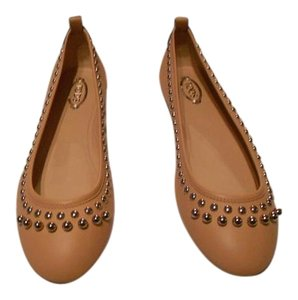Tod's Stylish Lovely Color Comfortable Made In Italy Rosa Salmone Flats