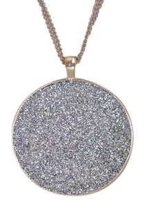 Kenneth Cole Kenneth Cole Round Silver Pendant Gold Necklace