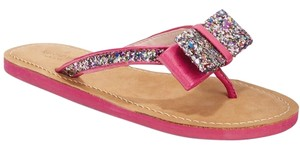 Kate Spade Leather Brand Pink with Glitter Sandals