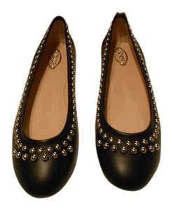 Tod's Stylish Lovely Color Comfortable Made In Italy Nero Flats
