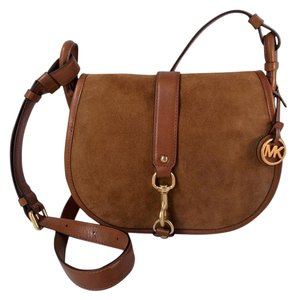 Michael Kors Jamie Suede Crossbody Shoulder Bag