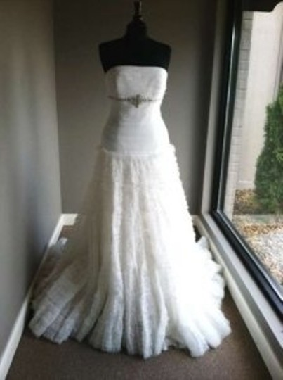 Jasmine Couture Bridal Ivory T297 Wedding Dress Size 10 (M)