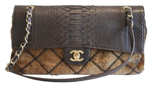 Chanel Flap Python Hair Shoulder Bag