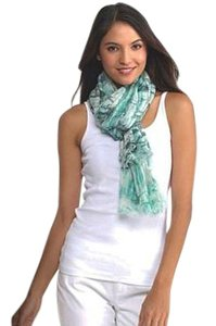 Eileen Fisher nwt Crackle Shibori Wool Gauze Scarf