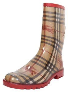 Burberry Nova Plaid Rain Boots
