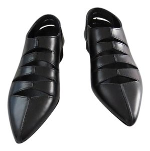 LIMI Fen Fashion Forward Sophisticated See Size Note Black Flats