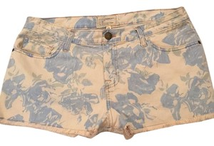 Current/Elliott Cut Off Shorts White and blue floral